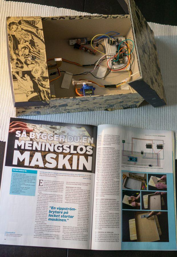 Arduino meningslös maskin